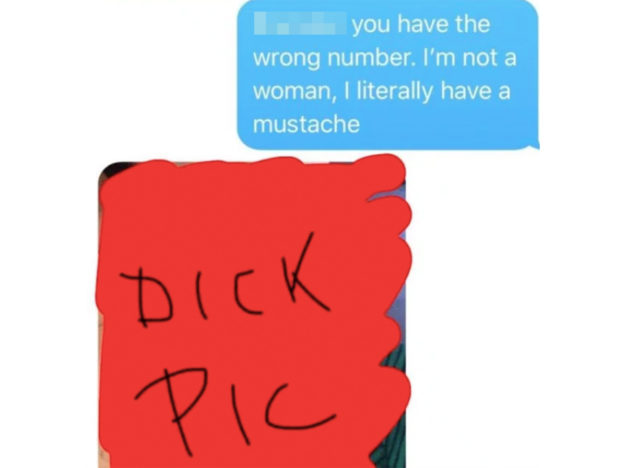 Guy Gets Wrong Number Text From Creep, It Escalates Very Quickly mustache 624x468