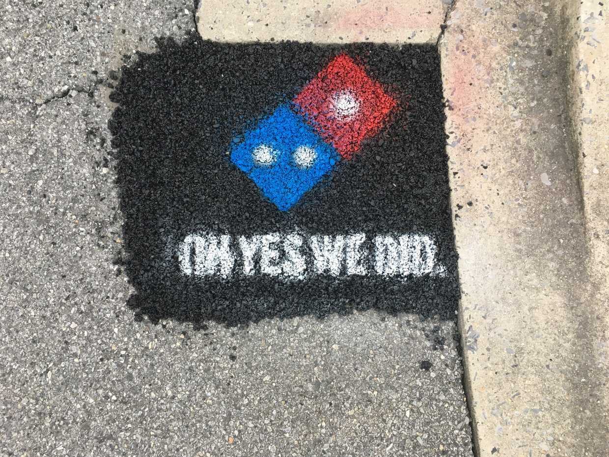 Dominos Are Paving Potholes To Stop Your Pizza From Getting Ruined pavingforpizza5