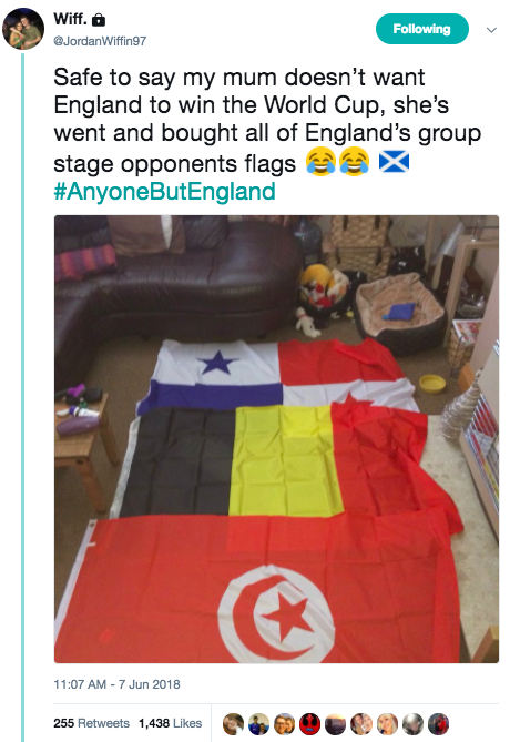 Flags of England's world cup opponents