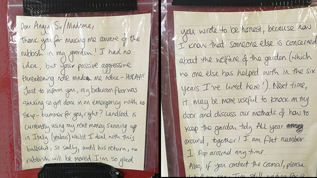Woman Gets Into Hilarious Note War With Her Angry Neighbour 1st note written