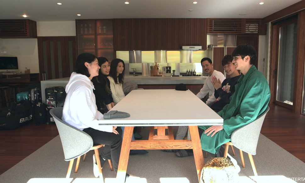The residents of Terrace House meeting for the first time