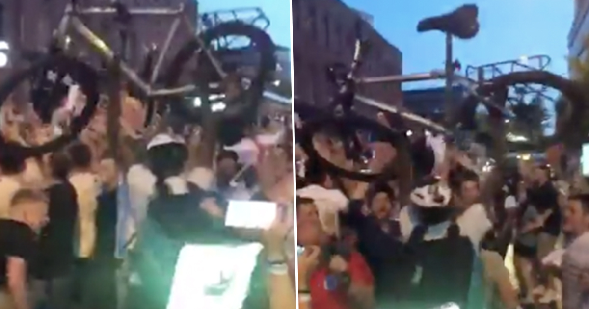Deliveroo Riders Incredible Reaction To England Win DELIVEROO CELEBRATION FB