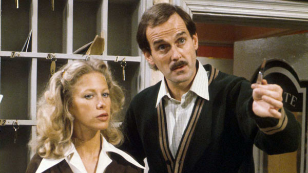 John Cleese and Connie Booth in Fawlty Towers