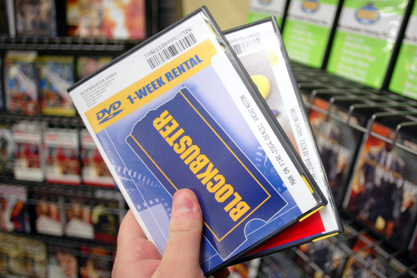 Blockbuster DVD cases