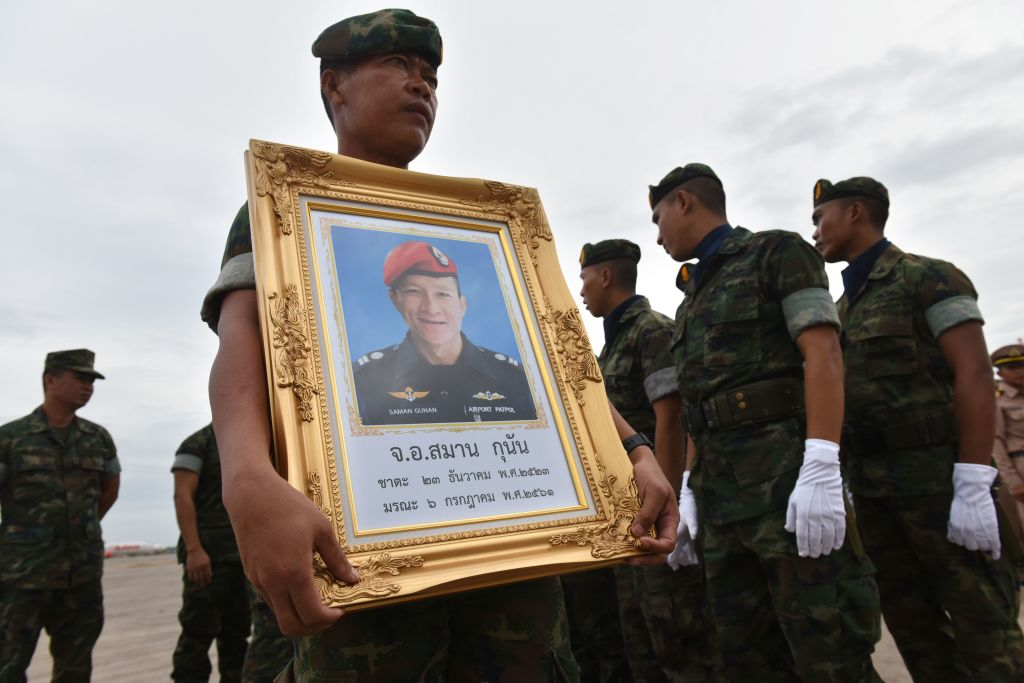 A Royal Thai Navy soldier Saman Gunan picture