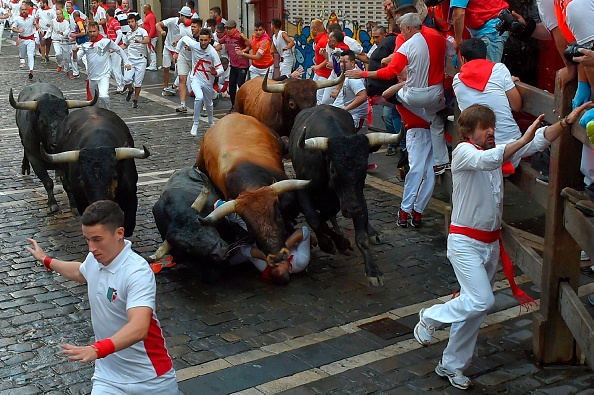 28 Injured After Being Trampled And Gored At Spanish Bull Run Festival GettyImages 998366264