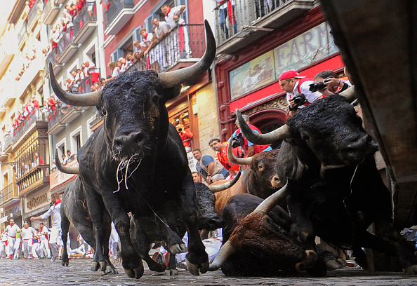 28 Injured After Being Trampled And Gored At Spanish Bull Run Festival GettyImages 998380952