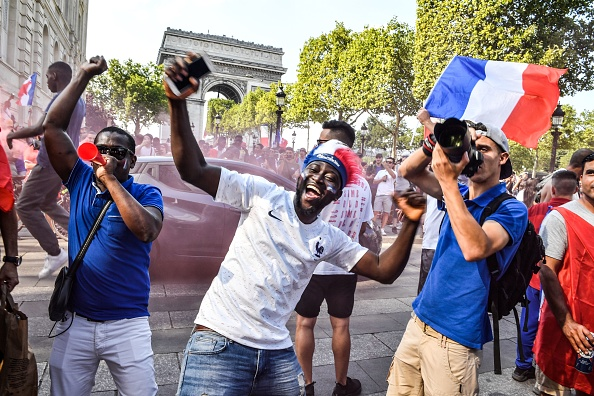 French fans celebrate World Cup win