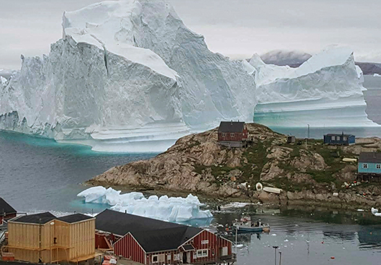 Giant Iceberg Drifts Towards Greenland Town Sparking Tsunami Fears Iceberg A