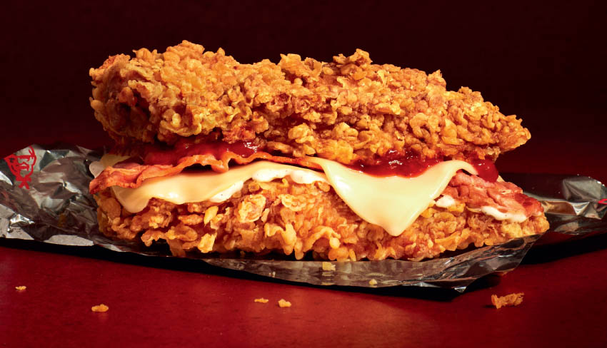 kfc zinger double down chicken sandwich
