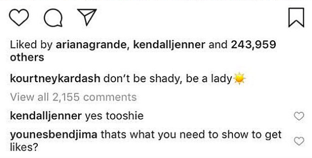 Kourtney Kardashians Boyfriend Deletes Savage Comment He Left On Her Instagram Kourtney Kardashian IG comments