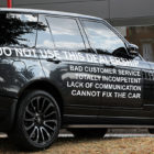 Furious Driver Leaves Range Rover Plastered With Warnings On Outside Dealership