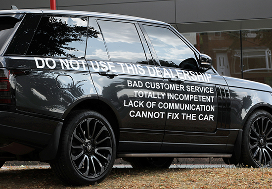 Land Rover customer launches furious protest.