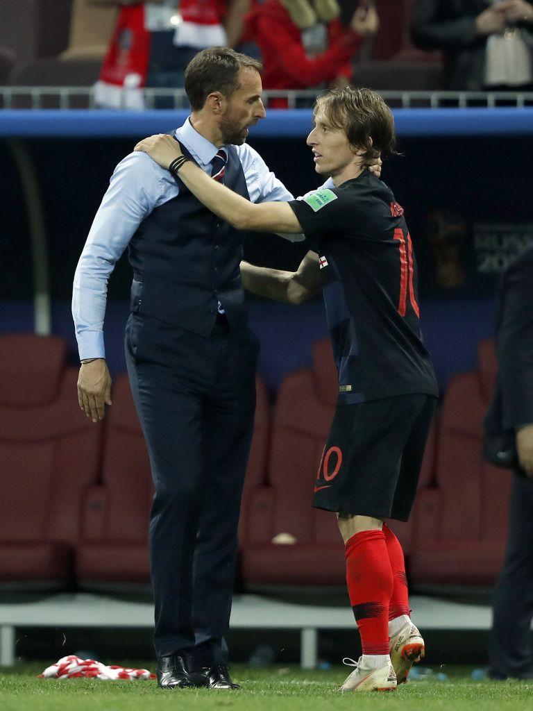 Luka Modrićs Journey To The World Cup Final Is A Truly Inspirational Story Luka Modric and Gareth Southgate