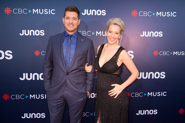 Michael Buble Confirms Wife Is Expecting Their First Daughter Micahel Buble and Luisana Lopilato