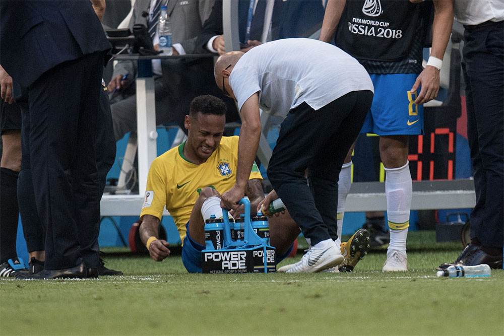 Neymar Has Spent 13 Minutes 50 Seconds On The Floor During The World Cup Neymar 1