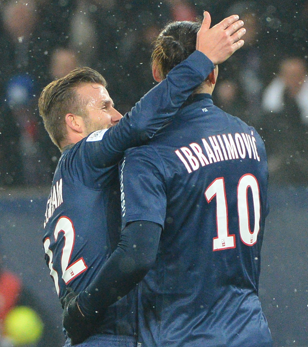 beckham and ibrahimovic