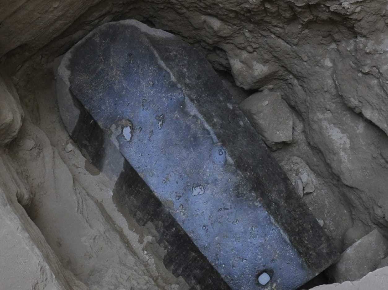 tomb buried in ground