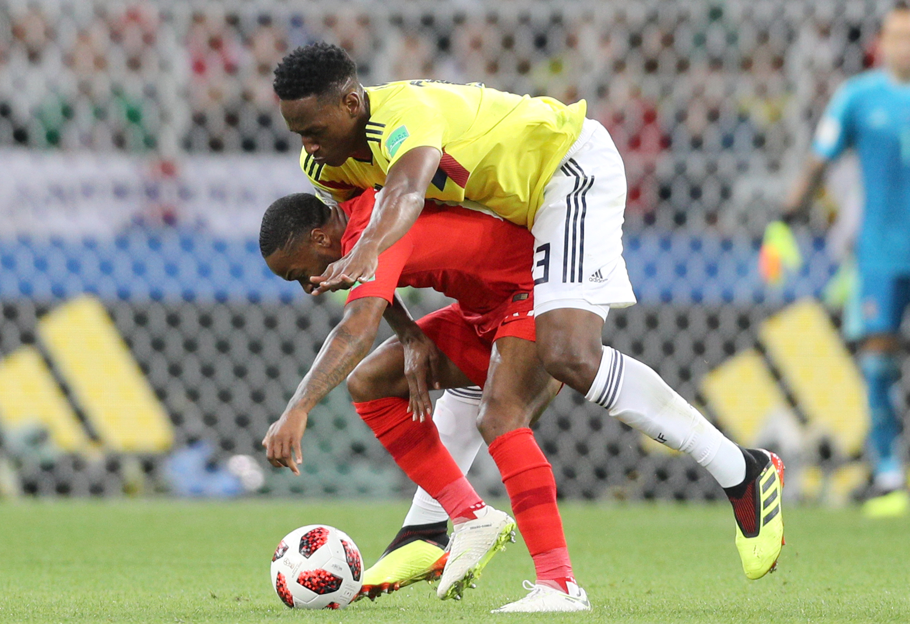 Colombian Official Caught Trying To Shoulder Sterling As He Left Pitch PA 37357653