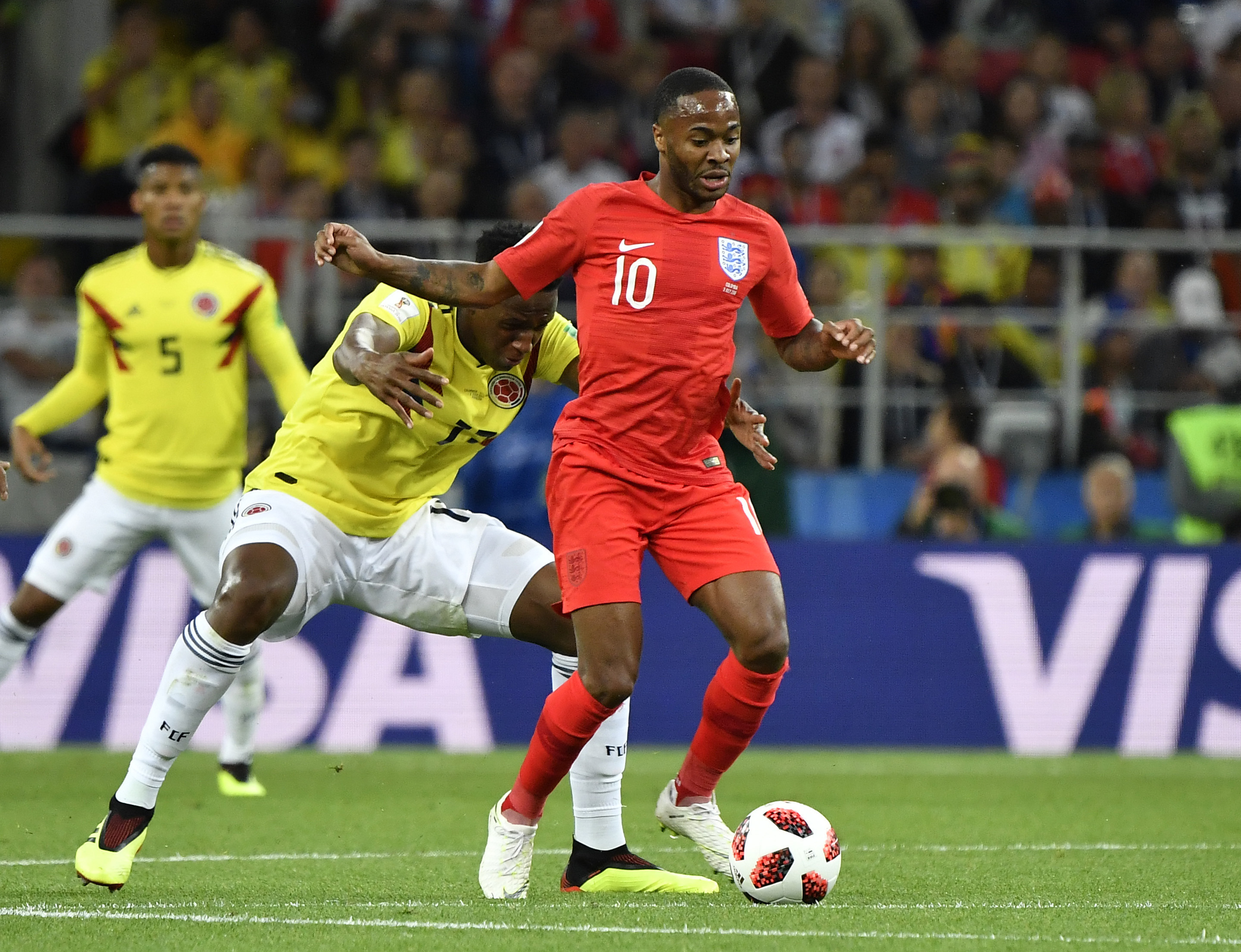 Colombian Official Caught Trying To Shoulder Sterling As He Left Pitch PA 37358338