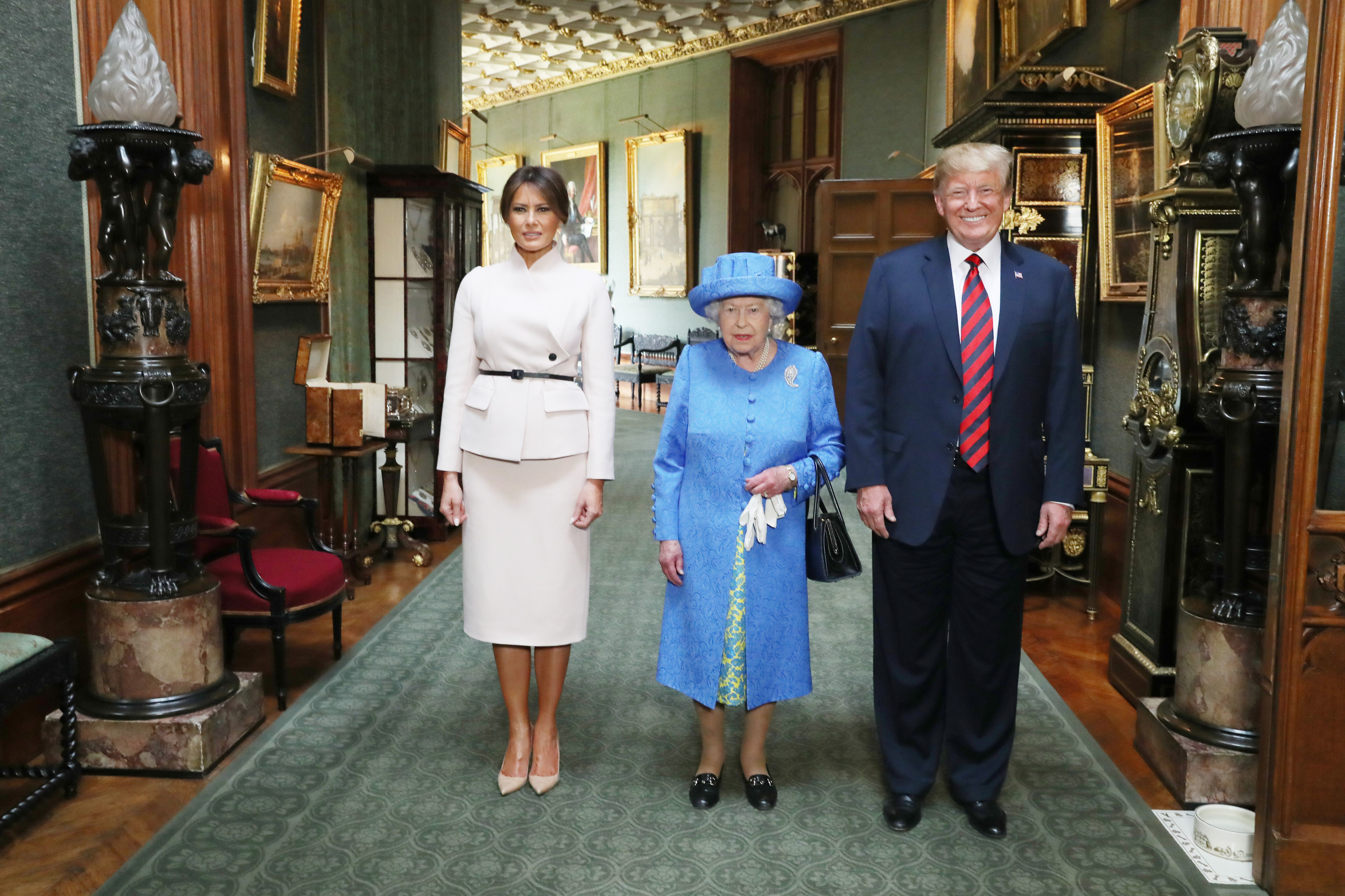 Did The Queen Send Coded Messages To Trump With Her Jewellery? PA 37543986