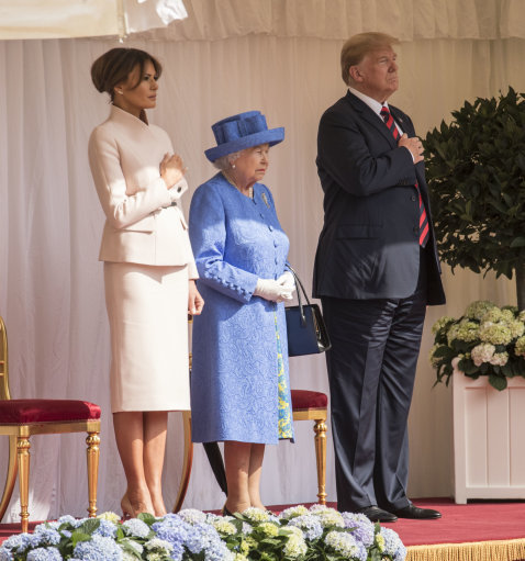 Did The Queen Send Coded Messages To Trump With Her Jewellery? PA 37546729 1