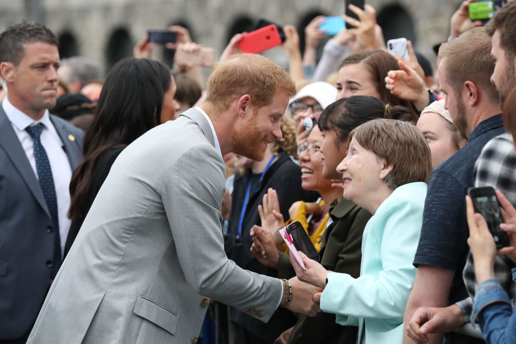 Prince Harry meets fans