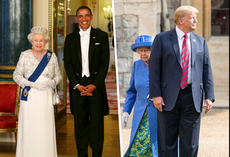 People Spot Huge Difference Between Trumps Meeting With The Queen And Obamas Queen web