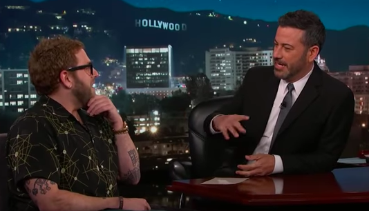 Jonah Hill speaks with Jimmy Kimmel