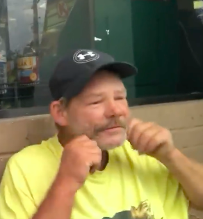 Officer Helps Homeless Man Shave For McDonalds Interview Screen Shot 2018 07 25 at 12.58.25
