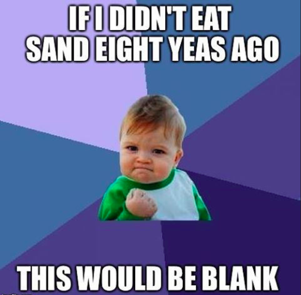 Success kid blank meme