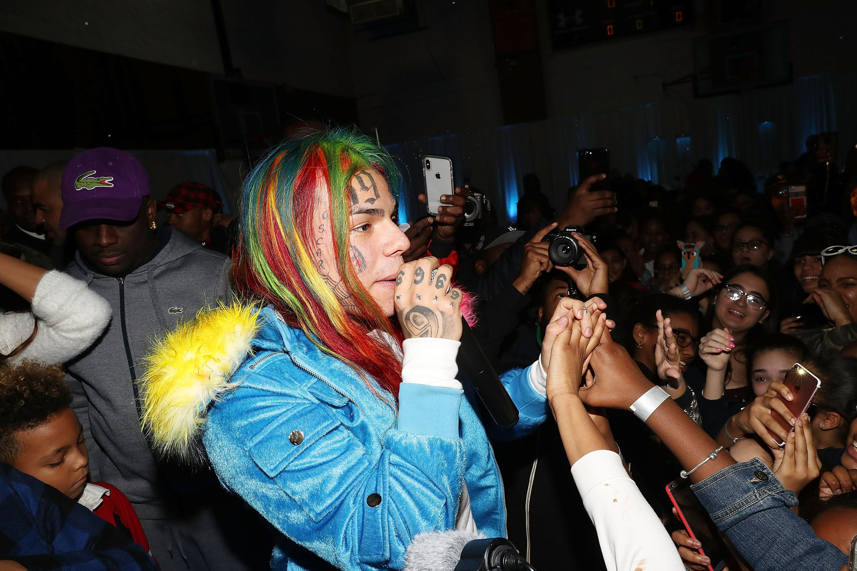 tekashi69 6ix9ine soundcloud rap rainbow hair face tattoos