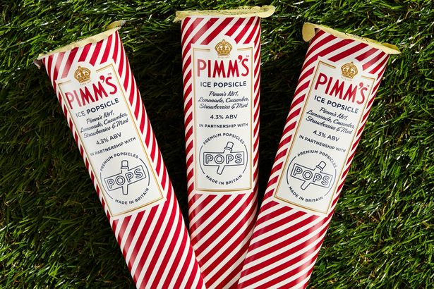 Pimms ice popsicles