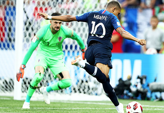 Mbappe scores in World Cup