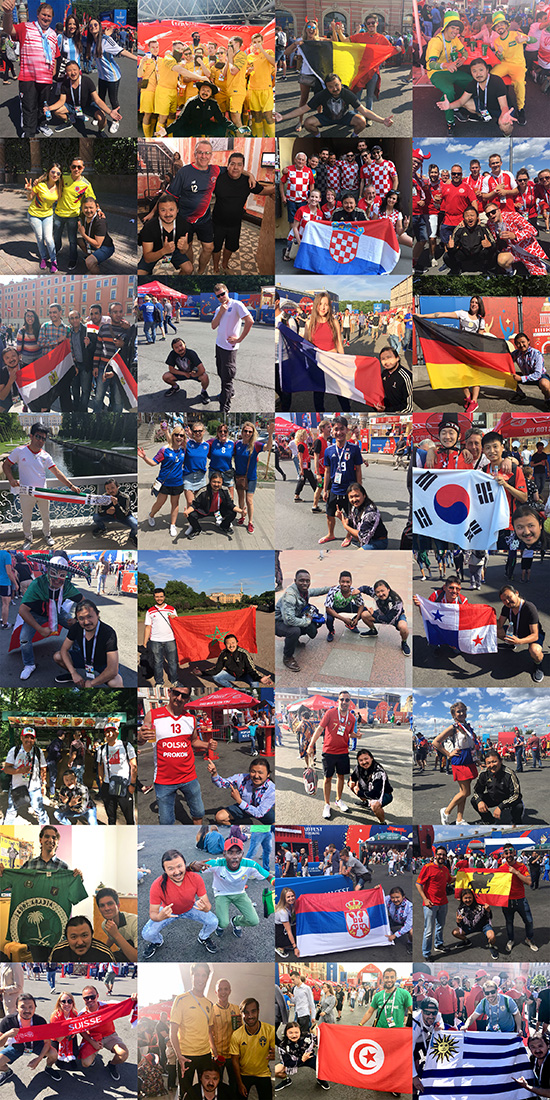 Guy Completes Challenge To Take Pictures With Fans From Every World Cup Team WorldCupFans Collage s