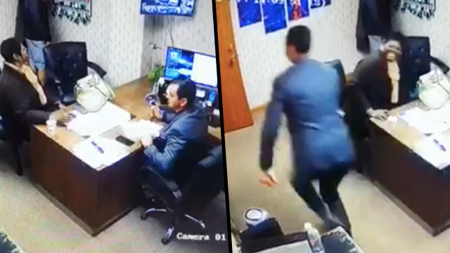 Guy Runs Out On Customer When He Hears World Cup Goal