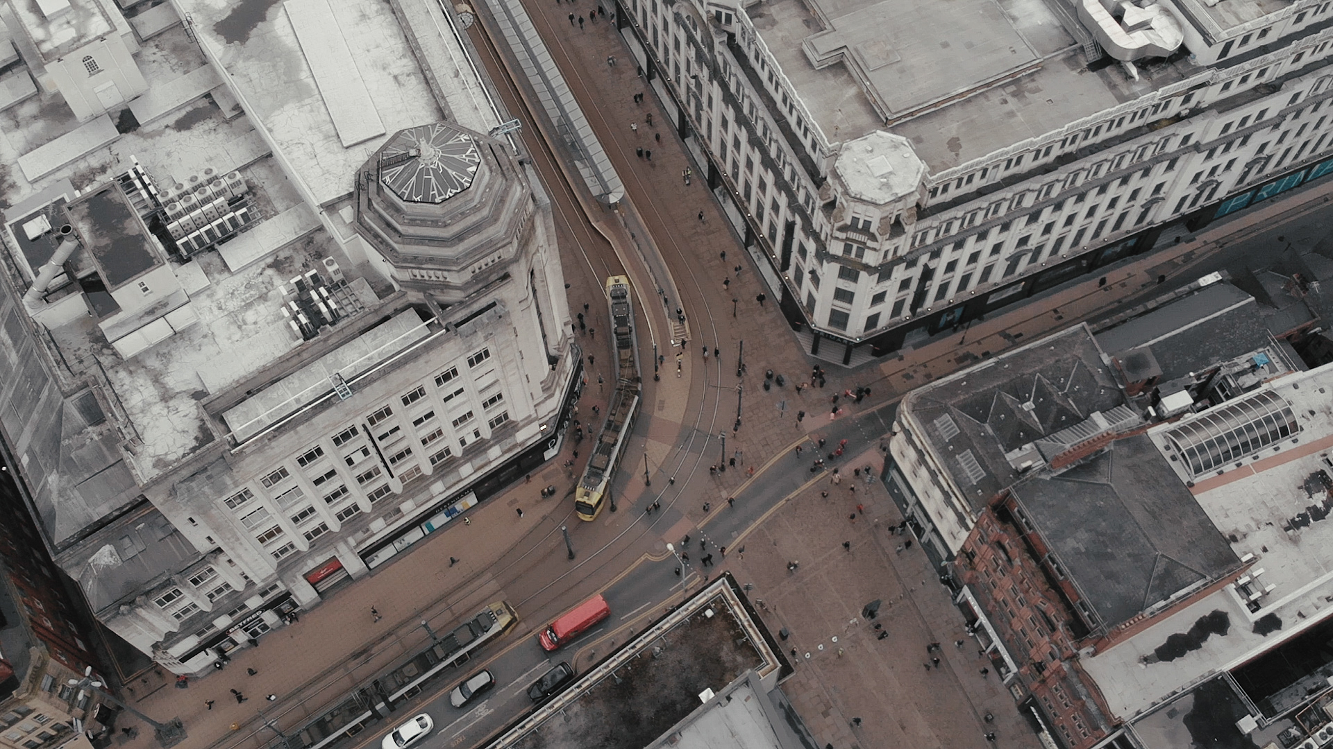 An aerial view of Manchester, during the spice epidemic