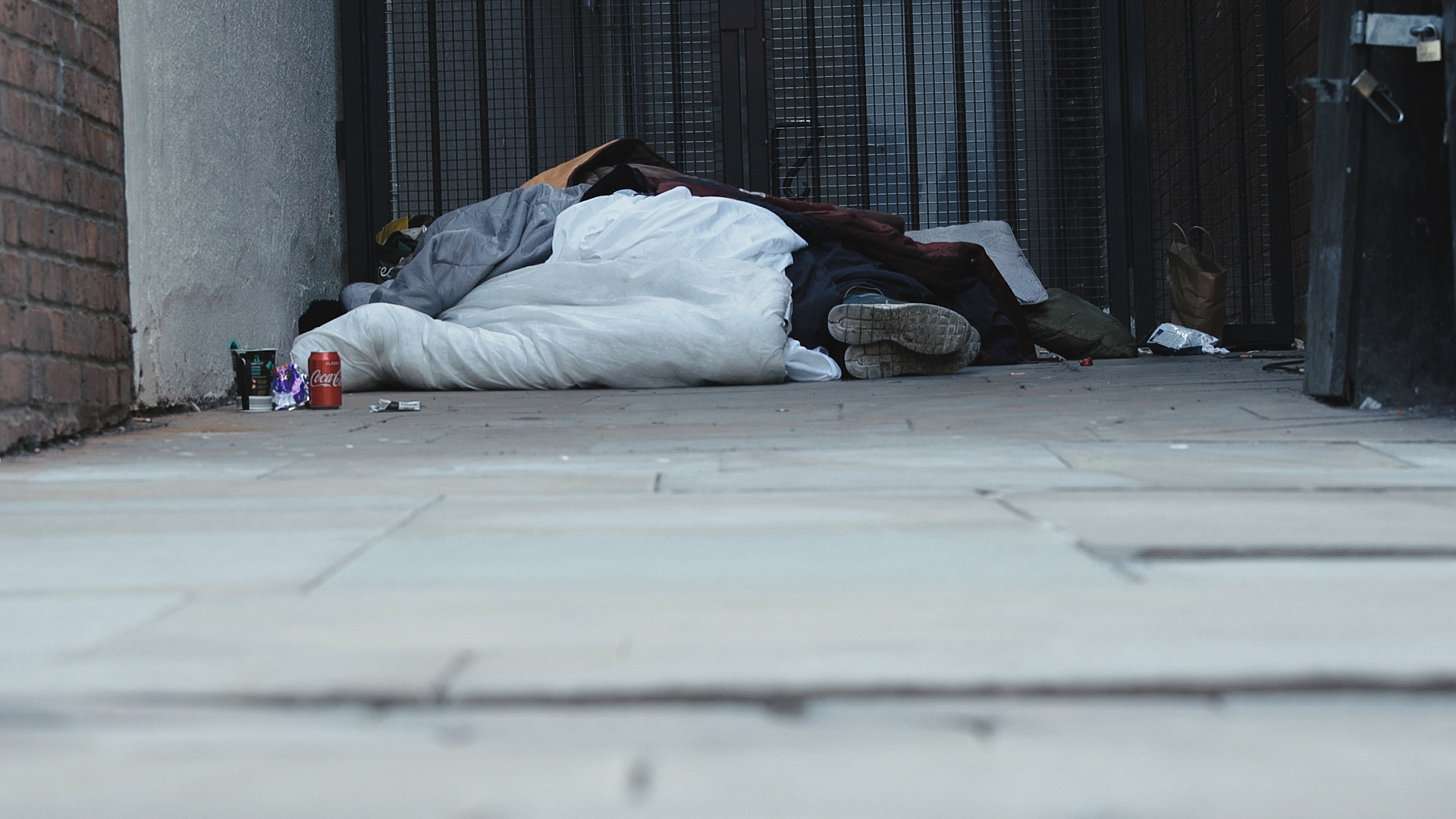 Homeless person in Manchester, spice capital of the UK