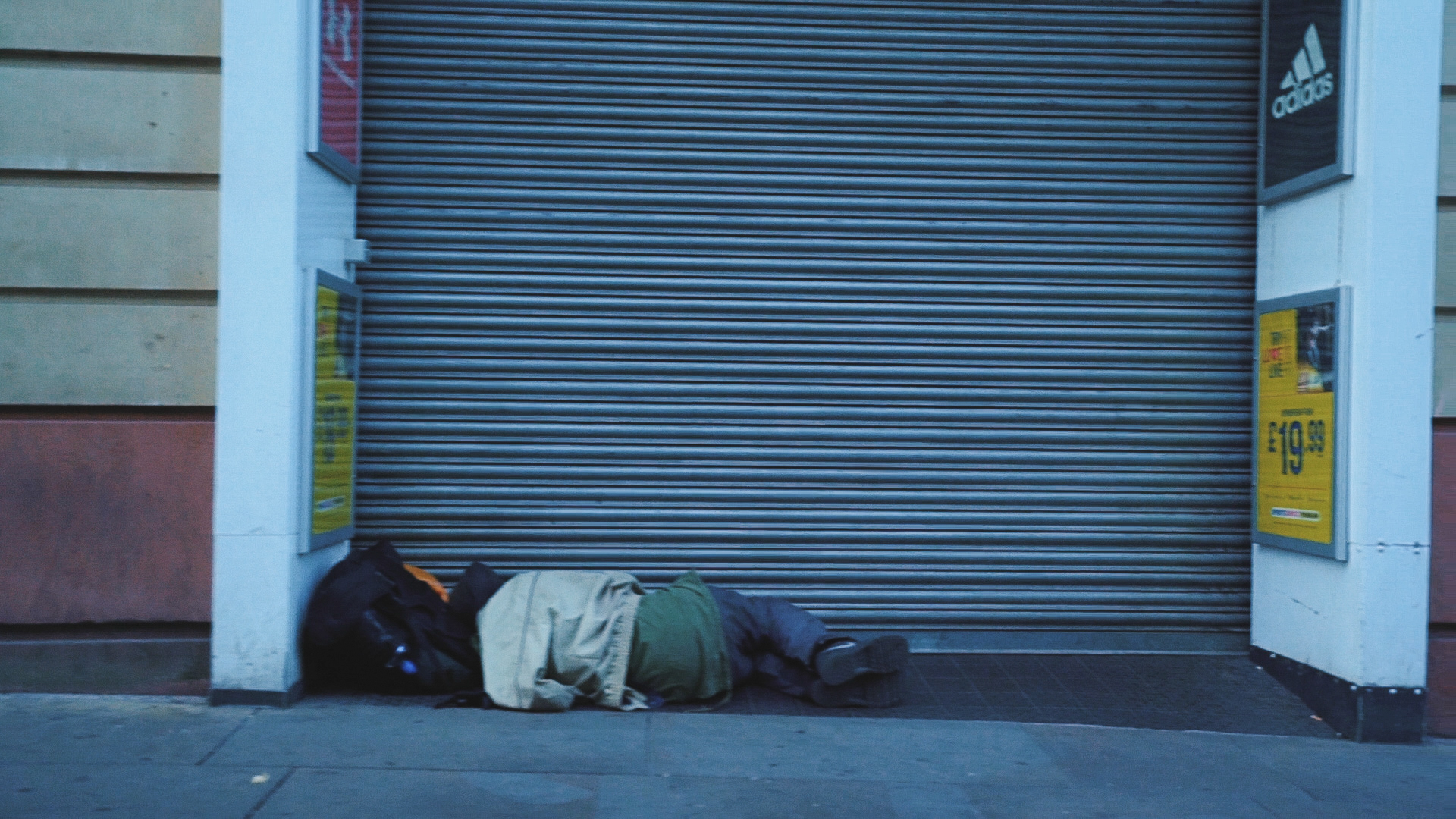 Rough sleeper in Manchester, during spice epidemic