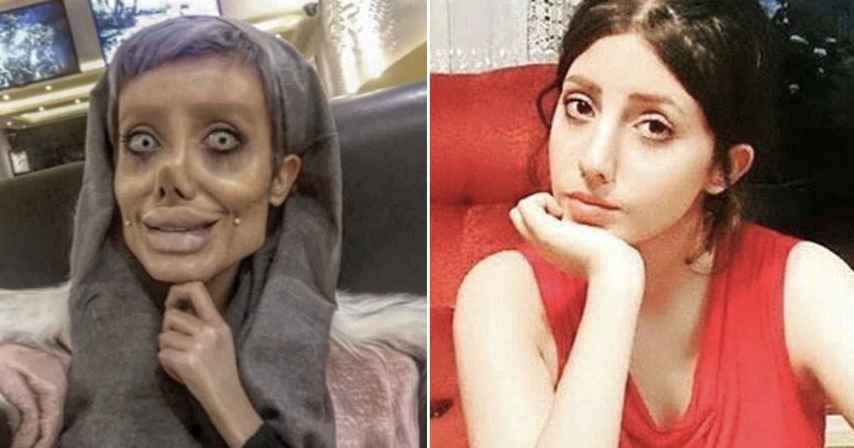 Angelina Jolie Lookalike Posts Before And After Photos Showing What She Really Looks Like angelina jolie comparison