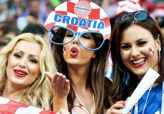 Cameramen focusing on attractive women in world cup