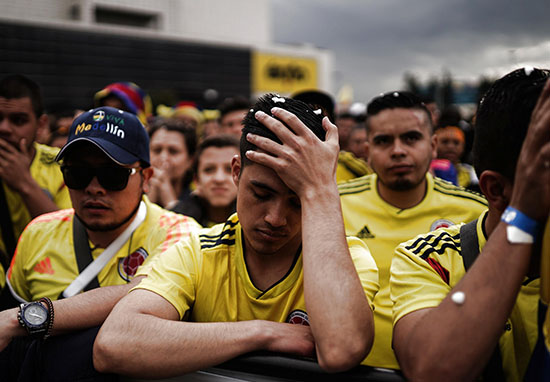Disappointed colombia fans