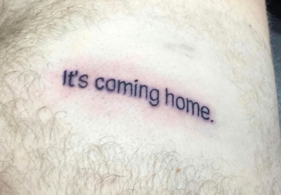 it's coming home tattoo