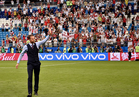 Gareth Southgate and crowd