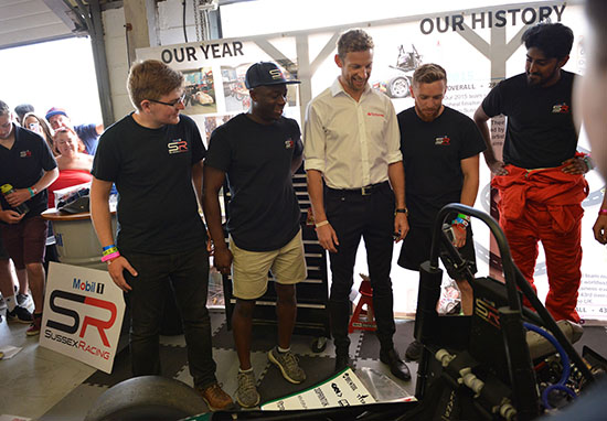 Jenson Button Supports Calls For More Women To Get Involved In Engineering formula student