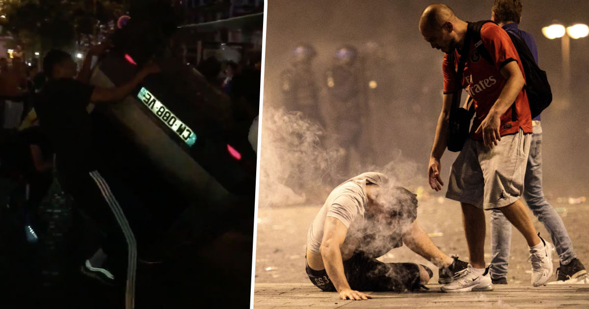 Two French Fans Die As Violence Erupts Across Country After World Cup Victory franceviolence1