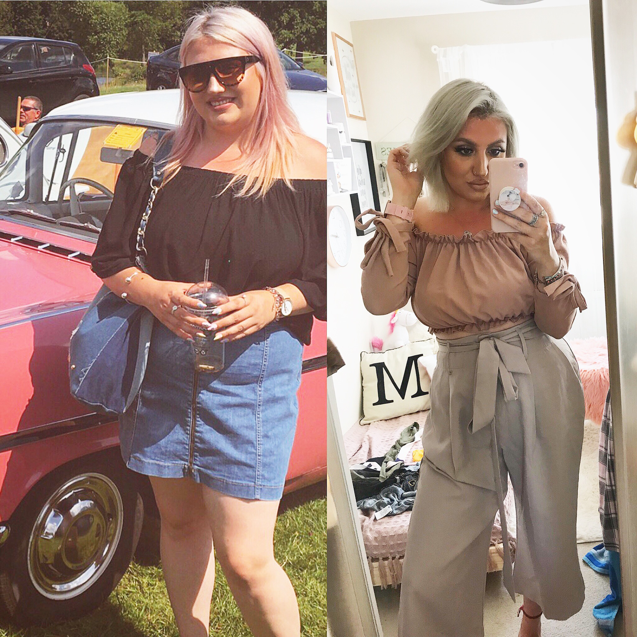 Photos before and after woman lost weight