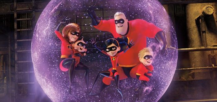 The Parr family in the Incredibles 2