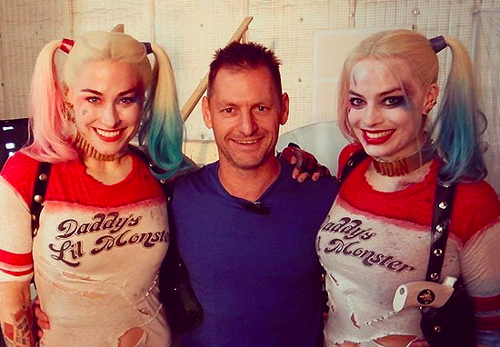 Margot Robbie's stunt double, Ingrid Kleinig, on set of Suicide Squad