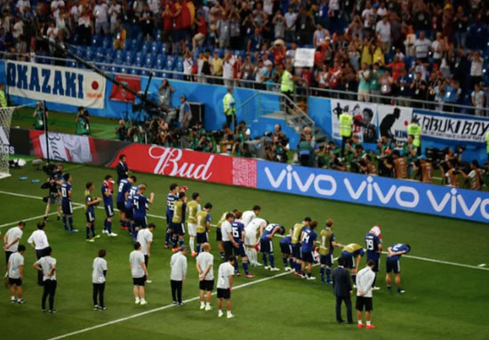 Japan Players Clean Changing Rooms And Bow To Fans After Defeat To Belgium japan fans